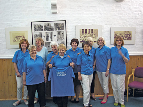 Olney and Emberton Flower Club sporting new gear